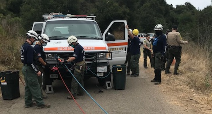 Decedent Found 100 Feet Down a Cliff on Winchester Canyon