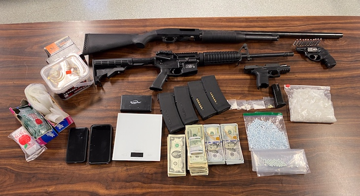 Suspects Arrested for Narcotics and Firearms Possession