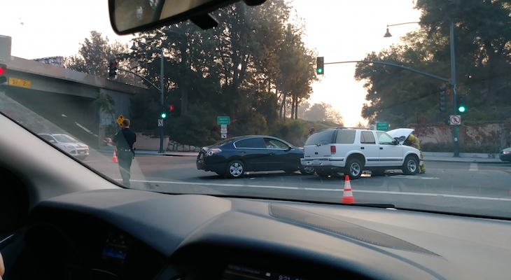 Traffic Collision on W. Mission title=