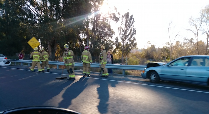 Traffic Accident on Highway 101 title=
