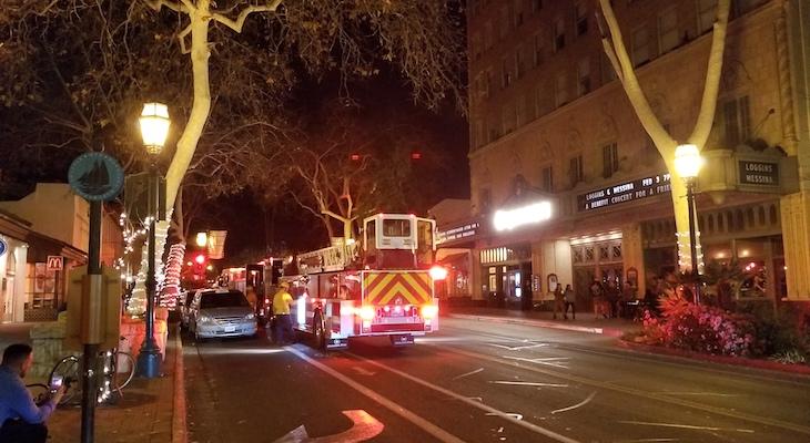 Firetrucks Outside Granada Theatre