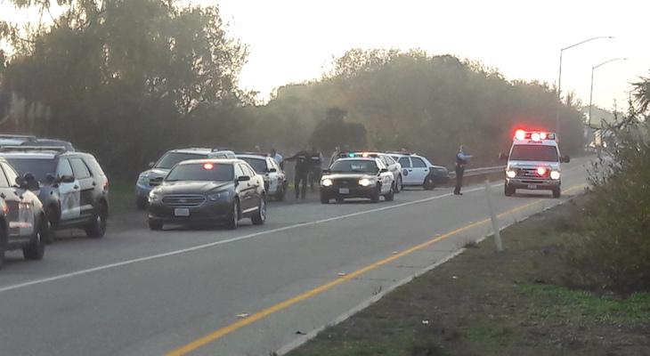 CHP Pursues Suspect in Carpinteria