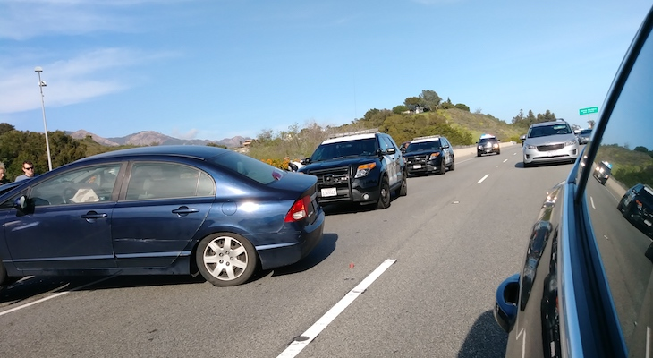 Traffic Collision on Highway 101