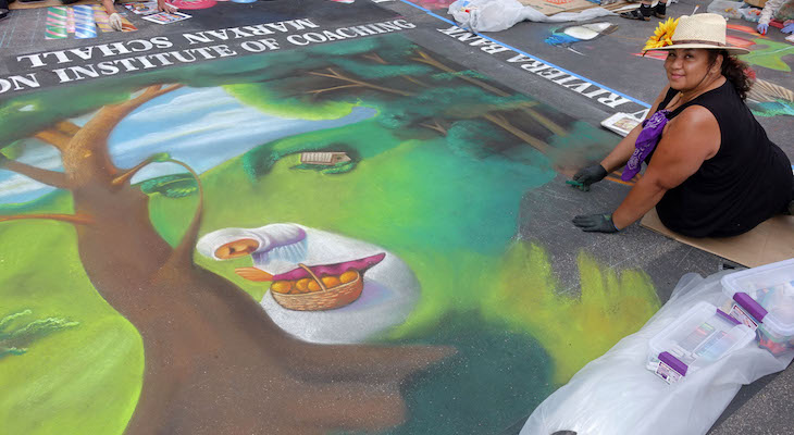 I Madonnari Chalk Paintings Final Round