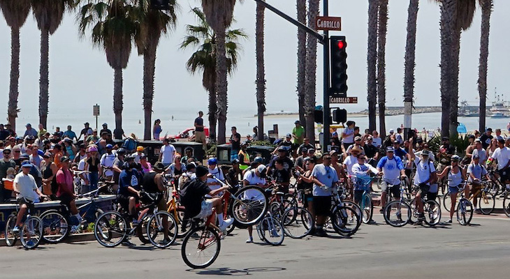 Annual Fiesta Cruiser Ride Takes Over State Street title=