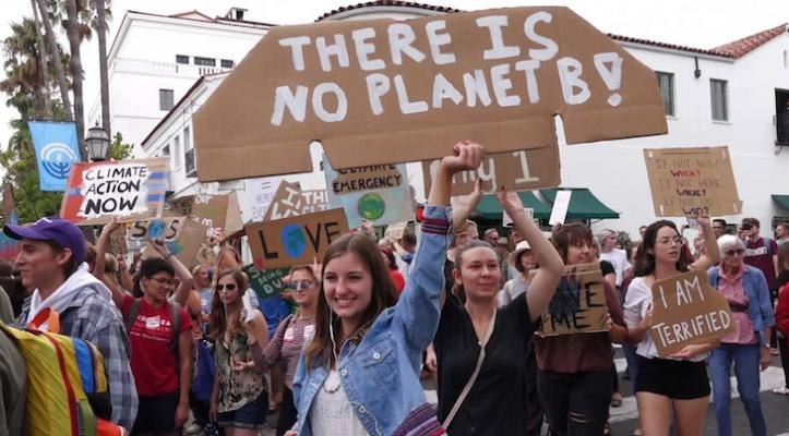 Hundreds Join Global Climate Strike Rally title=