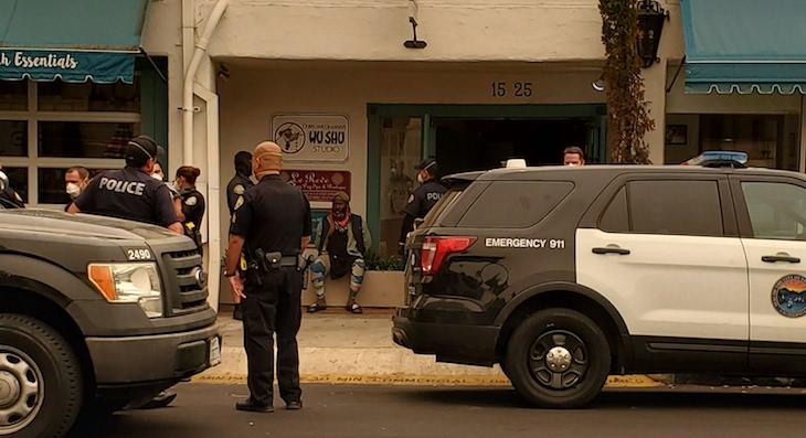 Arrest on Gutierrez Street