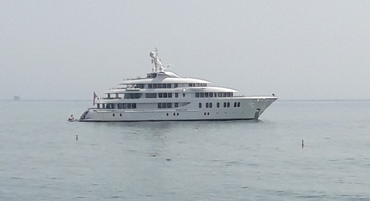 Large Yacht Off Montecito Coast title=