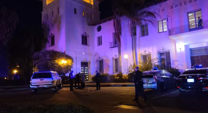 Vandalism Suspect Arrested at De La Guerra Plaza