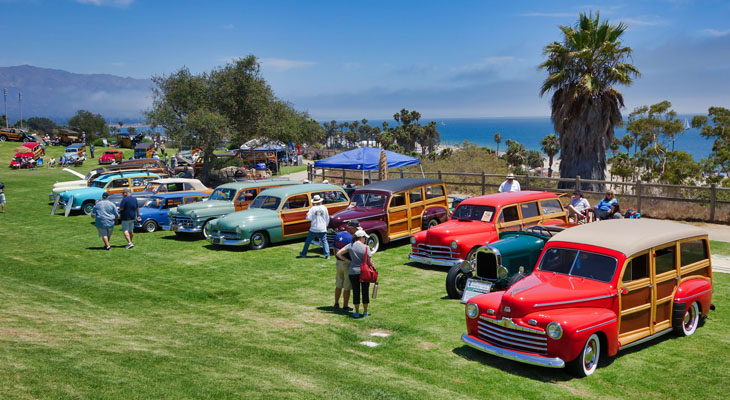 Woodies Car Show at the Beach