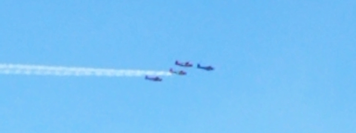 Four Airplanes Overhead at 11am