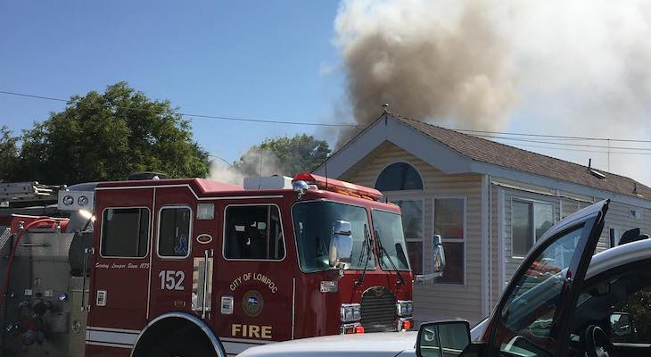 Mobile Home Fire in Lompoc