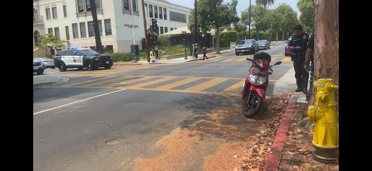 Scooter and Vehicle Collision on Anacapa