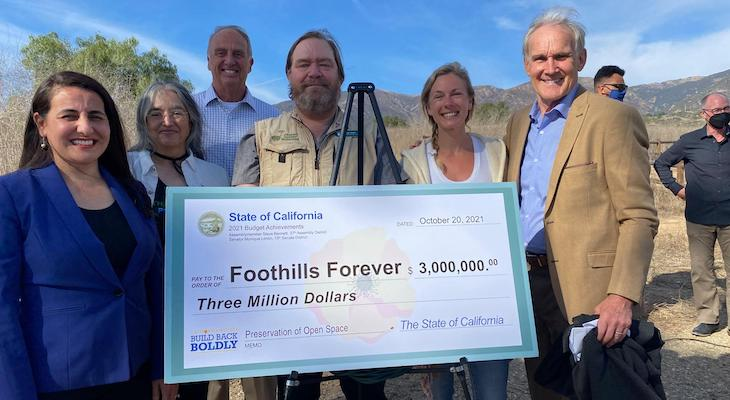 Foothills Forever Campaign Receives State Budget Check