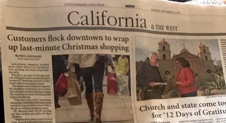 Slur Printed in Santa Barbara Newspress? title=
