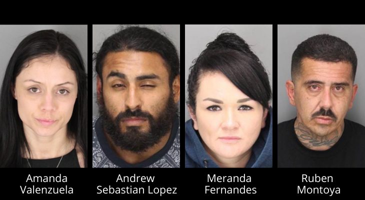 Four Suspects Arrested in Organized Theft Ring