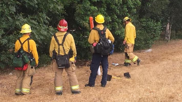 Brush Fire Contained Near La Cumbre title=