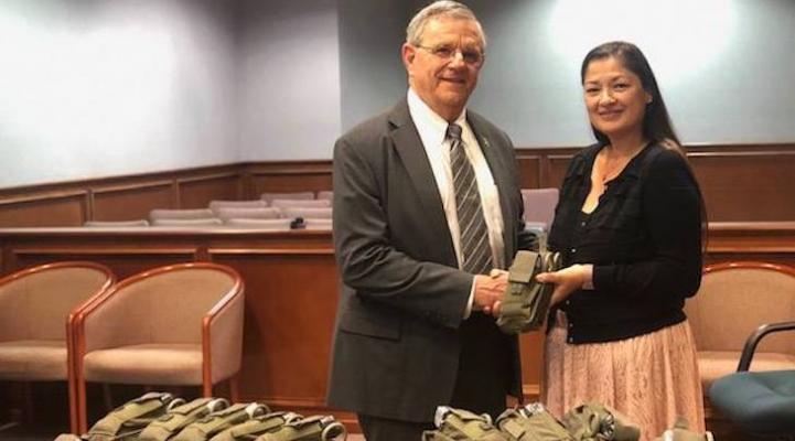 Santa Ynez Chumash Donate Trauma Kits to Sheriff's Deputies in Solvang title=