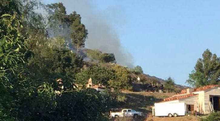 Small Brush Fire and One Injury on Las Canoas