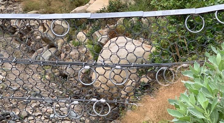 Debris Flow Nets on San Ysidro Trail