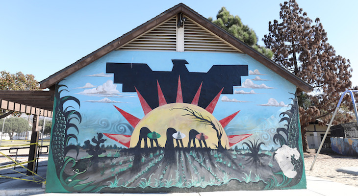 Scheduled for Destruction, Historic Ortega Park Murals May Now Be Saved title=