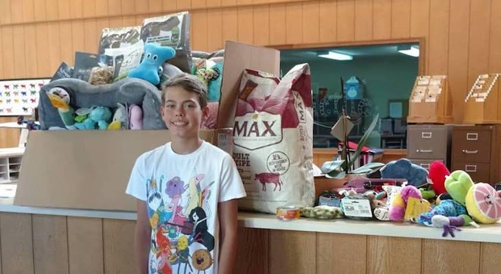 Local Teen Donates Birthday Money to Animal Shelter