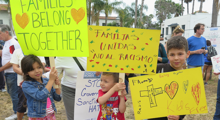 Thousands Protest Trump's Immigration Policies title=