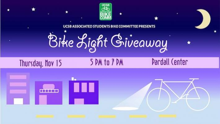 Bike Light Giveaway in Isla Vista title=