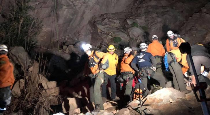 Two Hikers and Dogs Rescued from Hot Springs Canyon title=