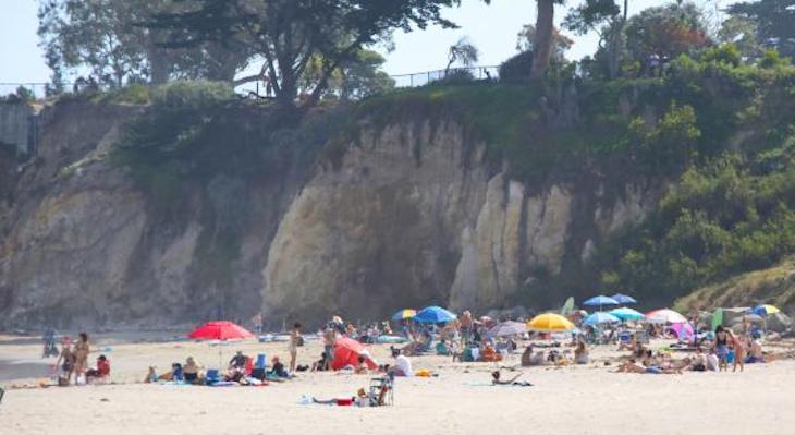 Leadbetter Beach in April (Photo by Baron Erik Spafford) title=