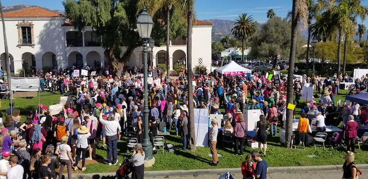 Women's March Drew Crowds in Santa Barbara title=