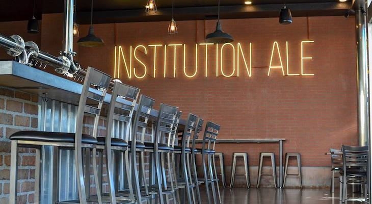 Neon Sign to Stay at Institution Ale title=