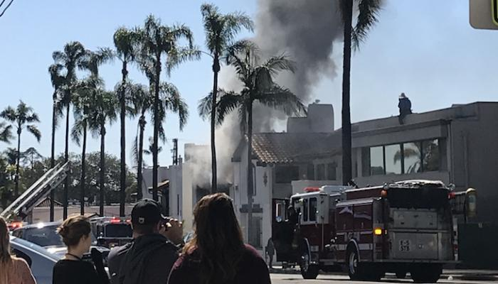 State Street Office Building on Fire