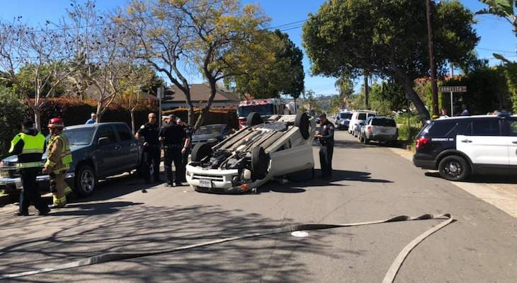 Rollover Traffic Accident on Victoria
