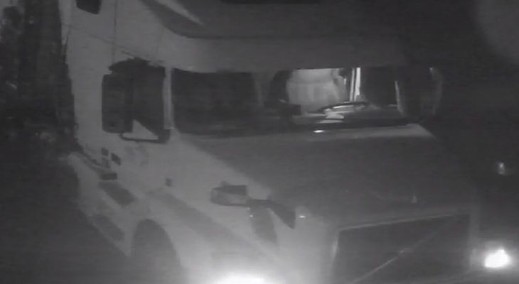 CHP Searching for Semi-Truck Driver Who Damaged Property title=