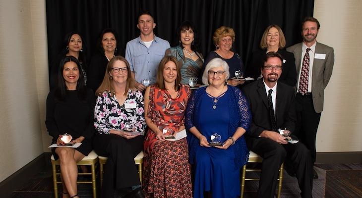 Local Teachers Receive Crystal Apple Educator Awards