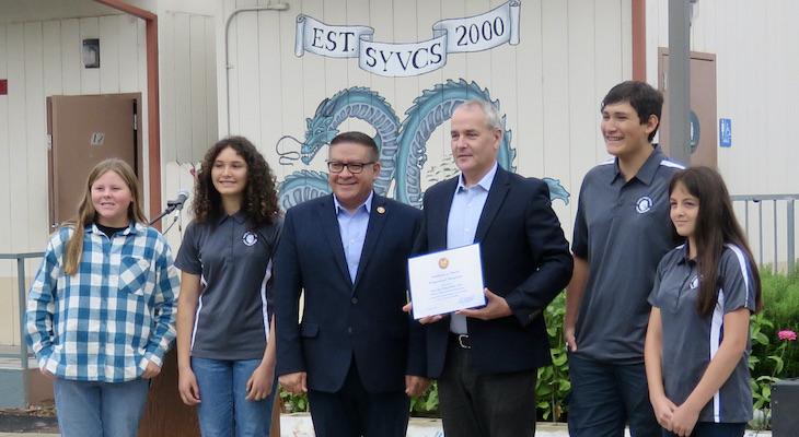Congressman Carbajal Visits Santa Ynez Valley Charter School title=