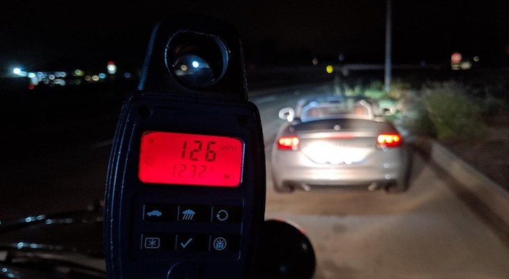 CHP Pulls Over Teen Driving 126 mph on Highway 101 title=