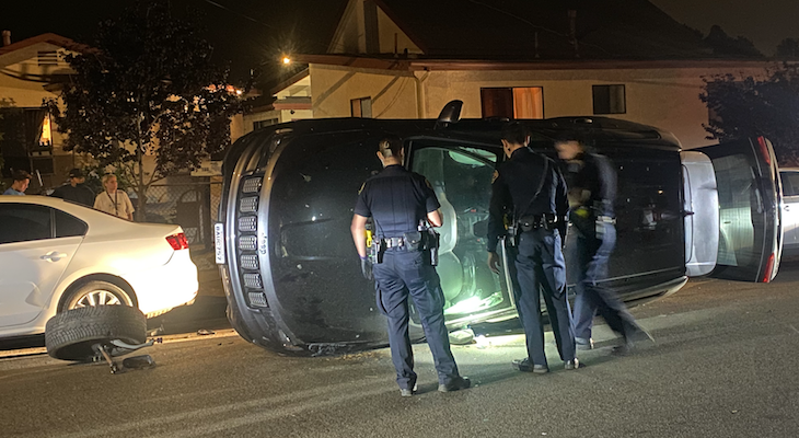 Vehicle Rollover on Salsipuedes title=