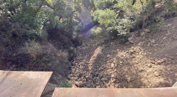 Rocks Dumped into Mission Creek title=