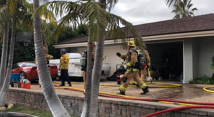 Attic Fire Extinguished in Goleta