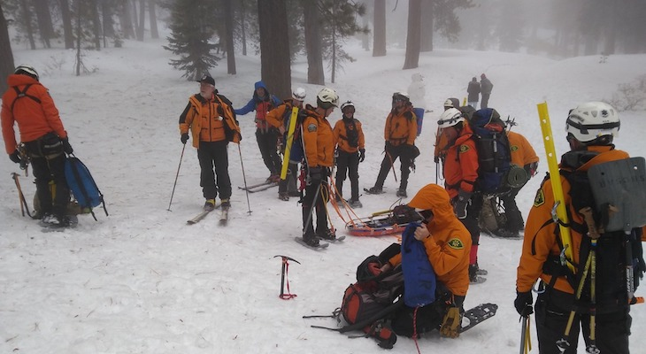 Search & Rescue Team Assist with Sledding Accident During Training