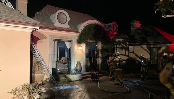 Structure Fire at Birnam Wood Home