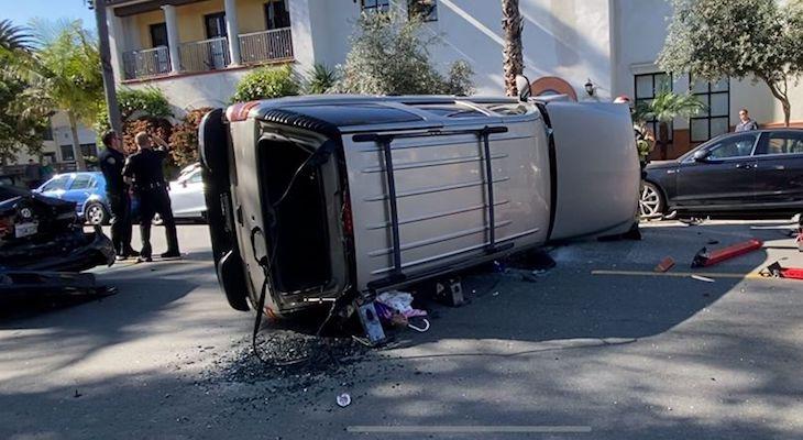 Rollover Traffic Collision on Garden Street