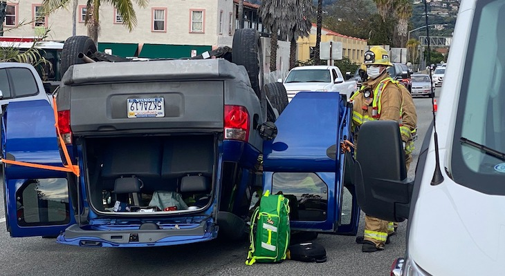 Rollover Traffic Accident on Highway 101