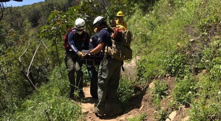 Hiker Rescued from Hot Springs on Sunday