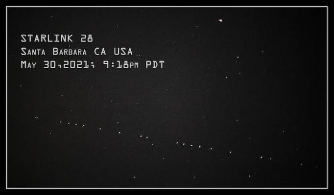 Starlink Satellites Overhead title=