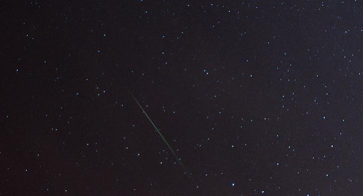 Perseid Meteor Over Santa Barbara