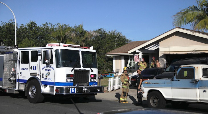 Structure Fire in Goleta title=
