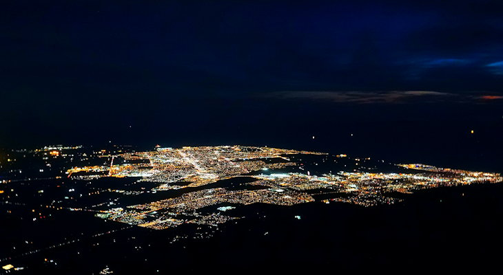 Over Ventura & SB at Night title=